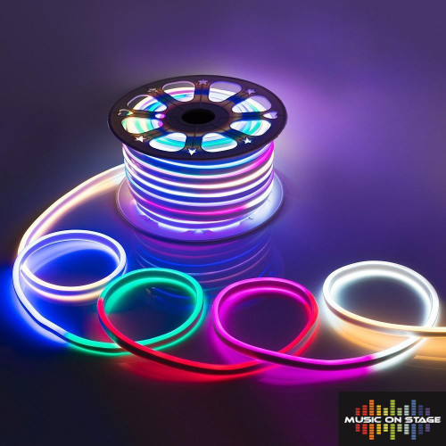 Pro-Line LED NEON 240V Flexible RGB LED Neon Light Strip IP65 Multi Colour Changing 120LEDsm LED Rope Light Outdoor, 100 Meters, Remote Controlled