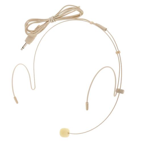 MOS Headset Microphone Beige Double Earhook 3.5mm Transmitter