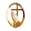 Praying Hands Traditional Cross