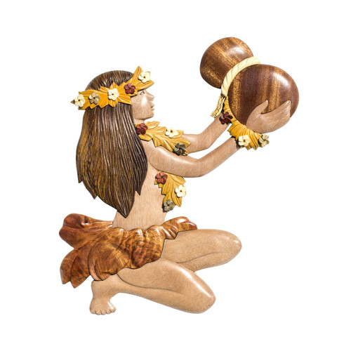 Hula Girl with Ipu