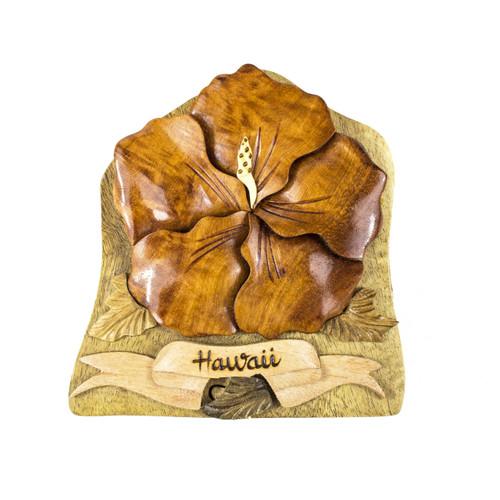 Hibiscus Flower - Puzzle Box