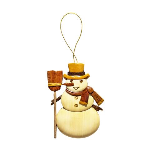 Traditional Snowman - Ornament