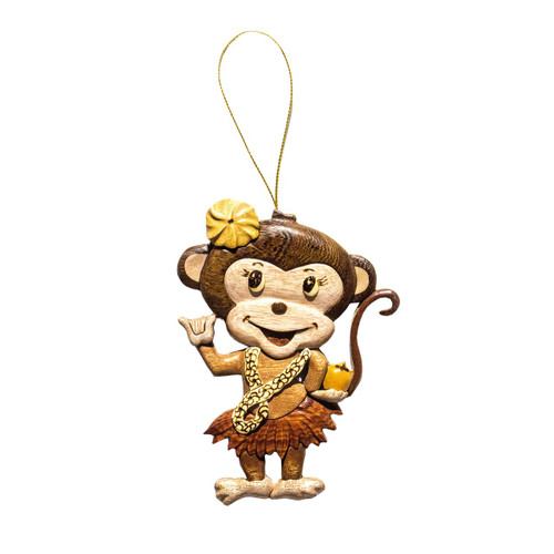Shaka Monkey Girl - Ornament