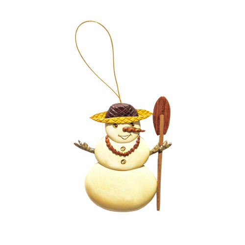 Hawaiian Snowman - Ornament