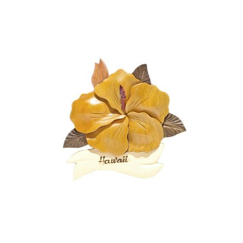 Single Hibiscus Flower - Magnet