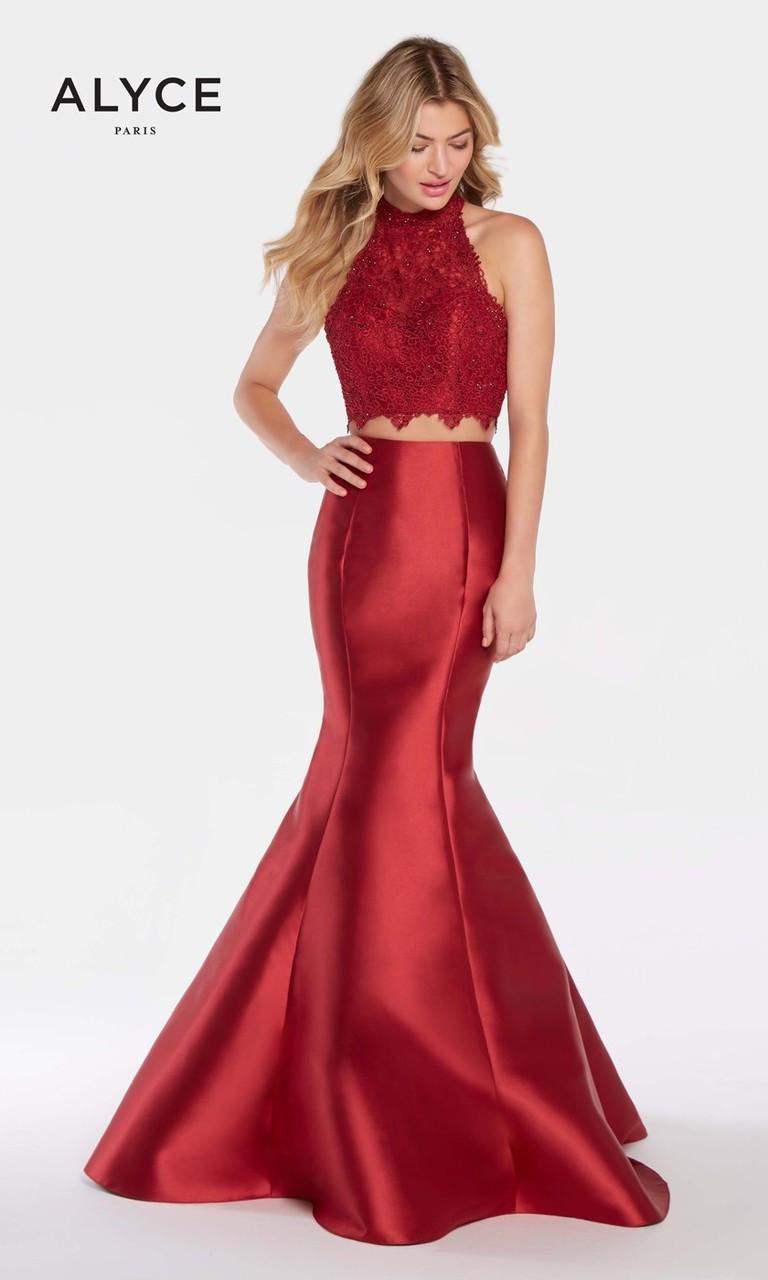 Mermaid Halter Top Dresses