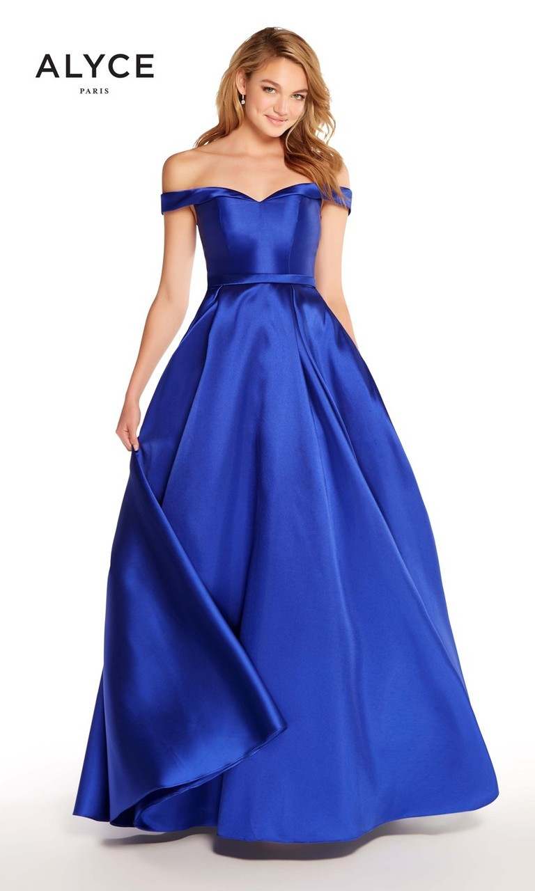 Off the Shoulder Prom Dress by Alyce Paris 60111