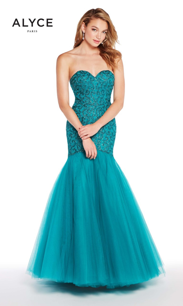 Embellished Sweetheart Neckline Gown by Alyce Paris 60229
