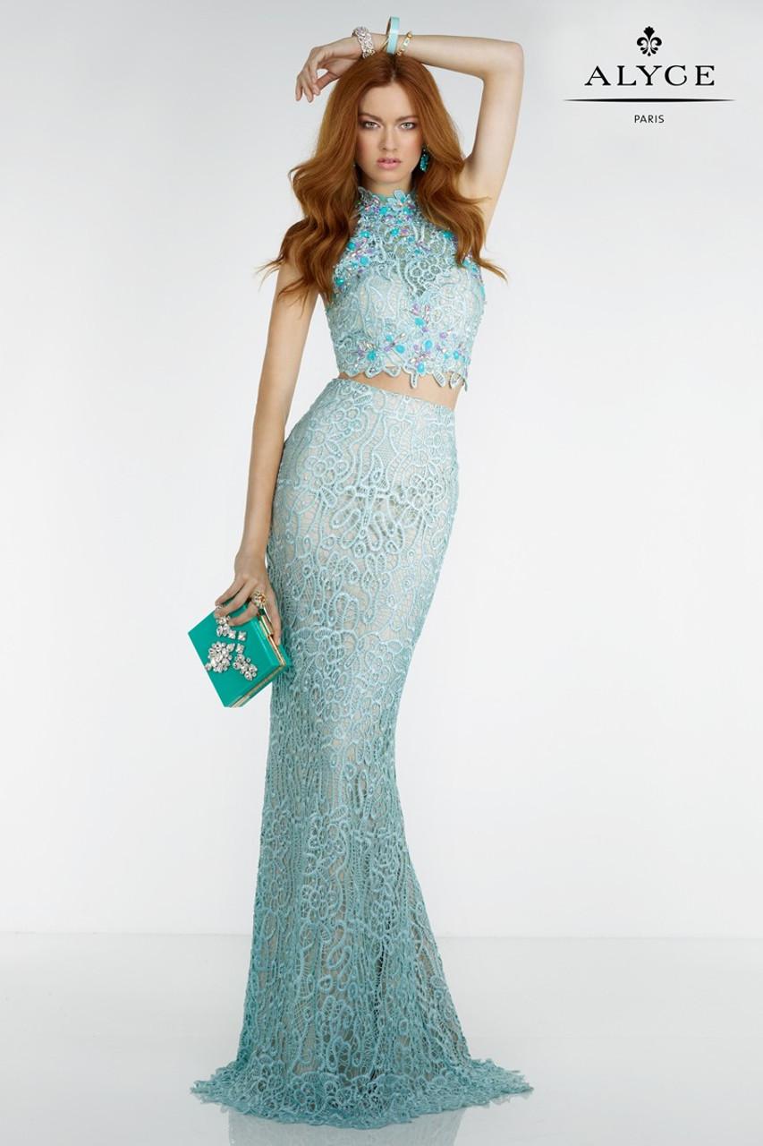 Alyce Paris 6521 Halter Top 2 Piece Prom Dress - Prom-Avenue