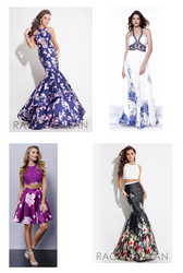 Floral Prom and Pageant Gowns