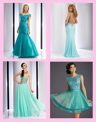 Turquoise, Teal and Blue-Green Prom Dress