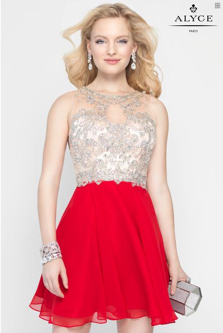 Rhinestone Homecoming Dress by Alyce Paris
