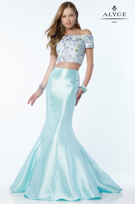 Two Piece Mermaid Gown by Alyce 6806