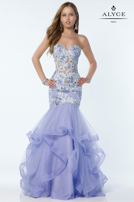Mermaid Style Sweetheart  Neckline Prom Gown 6807