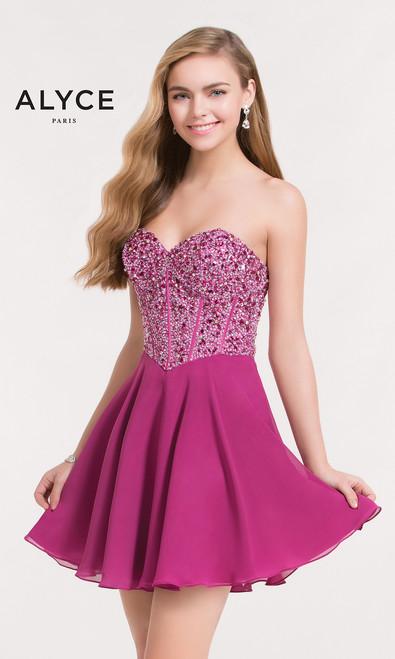 Fuchsia Homecoming Dress
