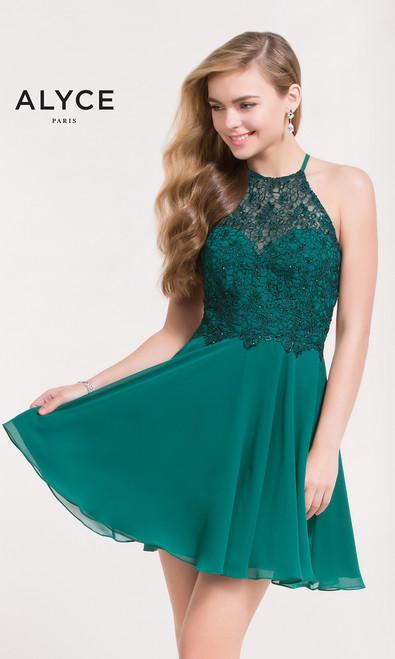 Alyce 3717 Halter Top Homecoming Dress