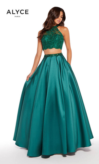 Alyce Paris 1312 Two Piece Crop Top Ball Gown