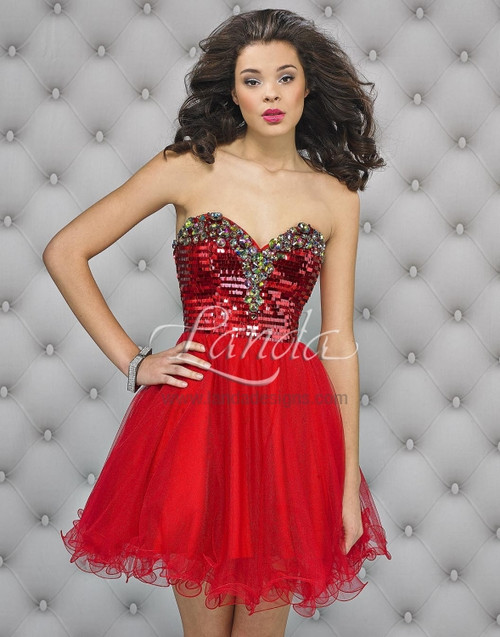 Landa Splash E 433 Red Cocktail Dress