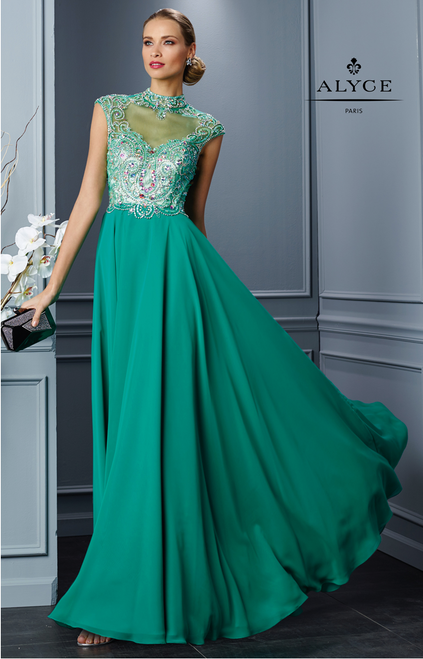 Gorgeous Chiffon Prom Dress by Alyce 1043