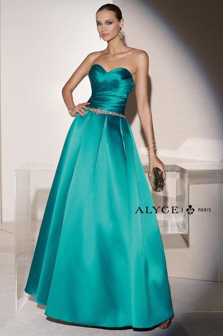 Classy Strapless Neckline Dress by alyce 5652