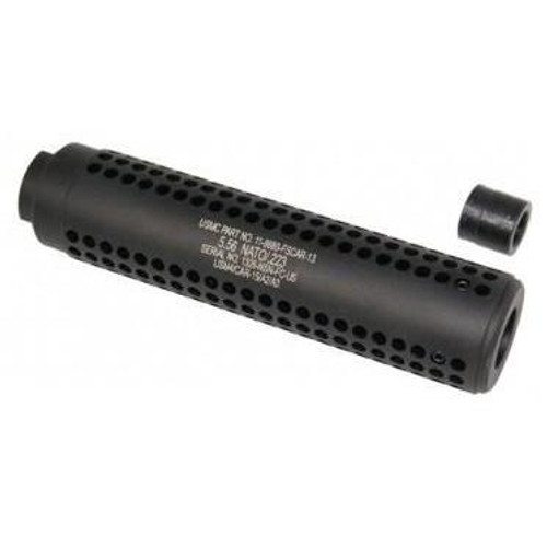 Guntec AR15 Reverse Thread Slip Over SOCOM Style Fake Suppressor - 1/2x28