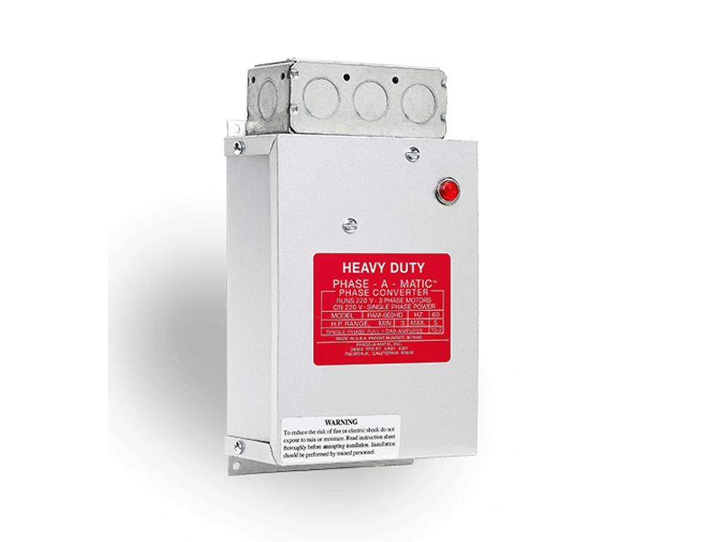 1/3HP-8HP Range Static Phase Converter, Regular-Duty Series, Phase-A-Matic