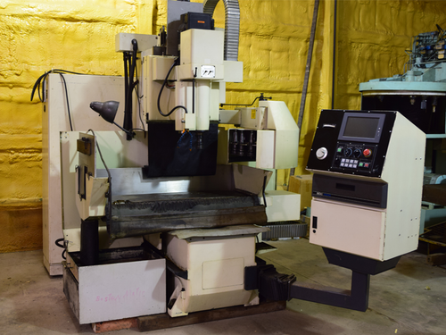 "BostoMatic 400 Series Vertical Machining Center, 48"" x 14"" Table, NUM CNC"