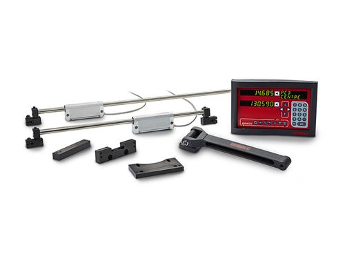 "Newall DP500, 14"" x 36"" x 6"" Travel, 3-Axis Mill DRO Kit w/Quill"