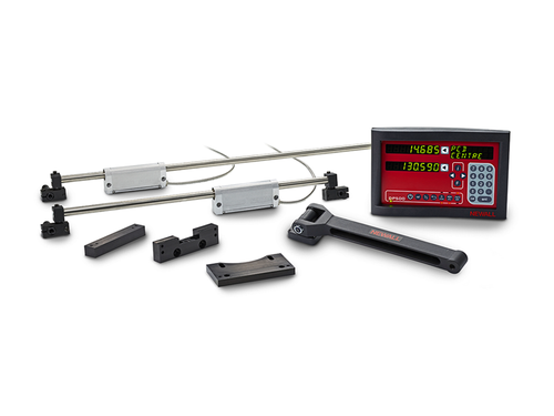 "Newall DP500 Lathe DRO Kit - 10"" x 40"" Travel Lathe Digital Readout, Microsyn LT Cross Slide"