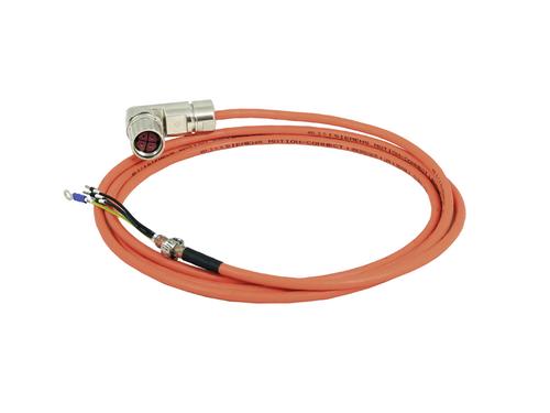 10m Pre-assembled Power Cable for 1FL6 Motors, Frame Size B/C