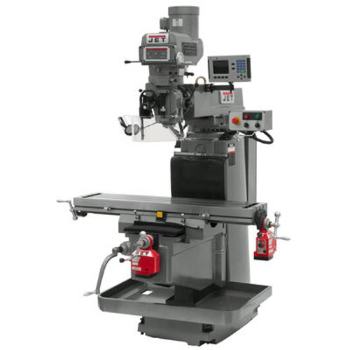 JET JTM-1254VS Mill With ACU-RITE 203 3-Axis DRO (Knee), X & Y Powerfeeds #698057