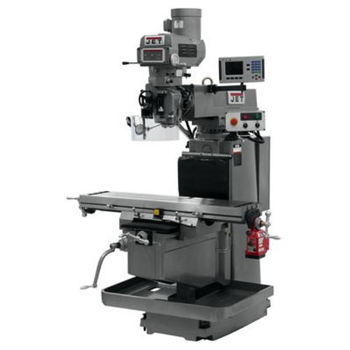 JET JTM-1254RVS Mill With ACU-RITE 203 3-Axis DRO (Knee) & X Powerfeed #698114