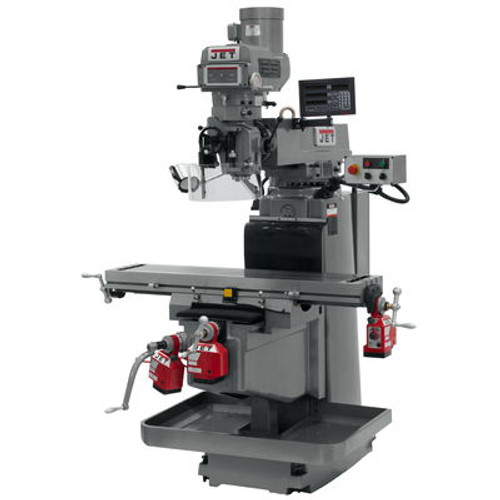 JET JTM-1254RVS Mill With Newall DP700 3-Axis DRO (Quill), X, Y & Z Powerfeeds #698142