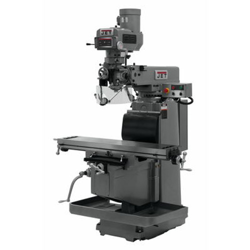 JET JTM-1254RVS Mill With Newall DP700 3-Axis DRO (Quill), X, Y & Z Powerfeeds & Air Power Drawbar #698143