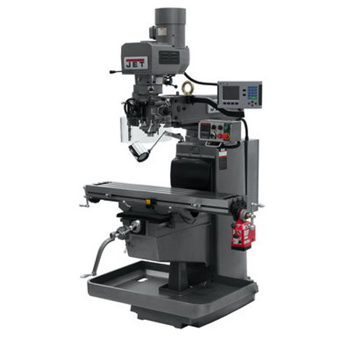JET JTM-1050EVS2/230 Mill With 3-Axis Acu-Rite 203 DRO (Knee) With X-Axis Powerfeed #690624