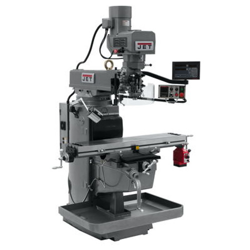 JET JTM-1050EVS2/230 Mill With 3-Axis Newall DP700 DRO (Knee) With X-Axis Powerfeed #690639