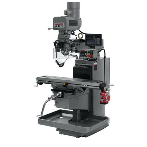 JET JTM-1050EVS2/230 Mill With 3-Axis Newall DP700 DRO (Quill) With X-Axis Powerfeed #690644