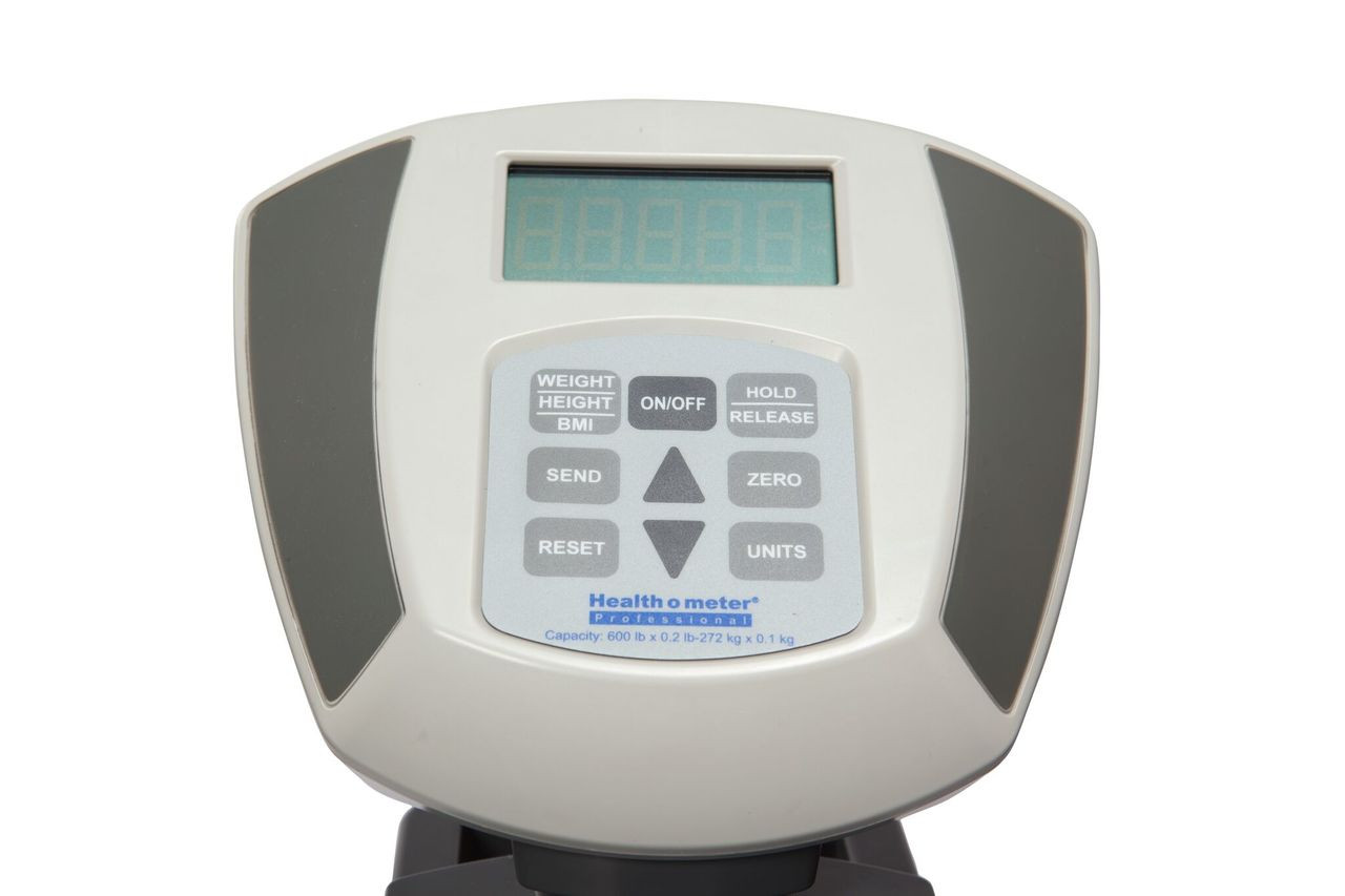 Health o meter 600KLHeavy Duty Digital Scale with Digital Height Rod