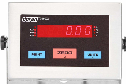 "Doran 7000XL Series Stainless Steel Bench Scale with 14"" column"