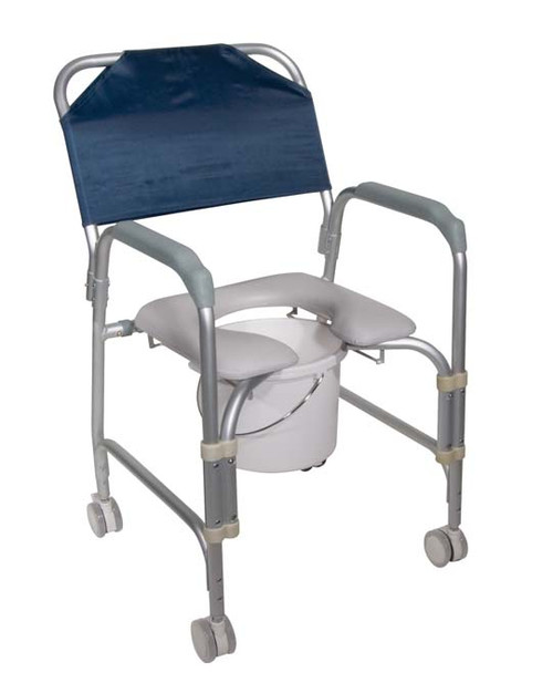 Drive Medical KD Aluminum Shower Chair and Commode