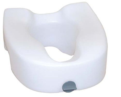 Drive Medical Premium Plastic Elevated, Regular/Elongated Toilet Seat with Lock