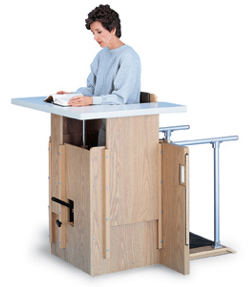 Hausmann Hydraulic Adjustable Stand-In Table