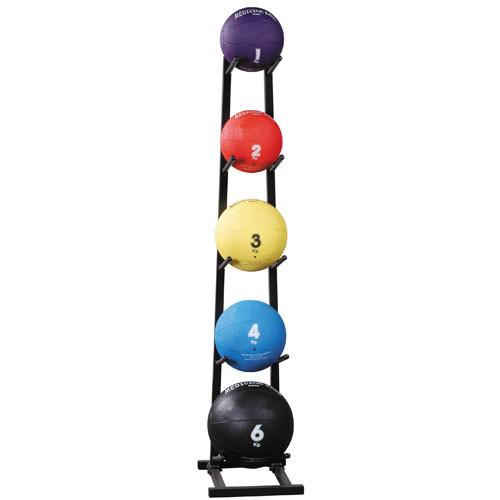 Single Tier Vertical Medicine Ball Tree - Black