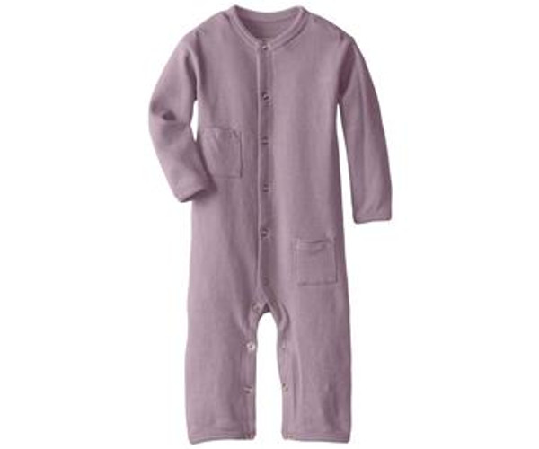 Organic Long-Sleeve Overall in Lavender, Flat