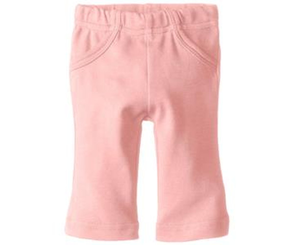 Organic Lounge Pants in Coral, Flat