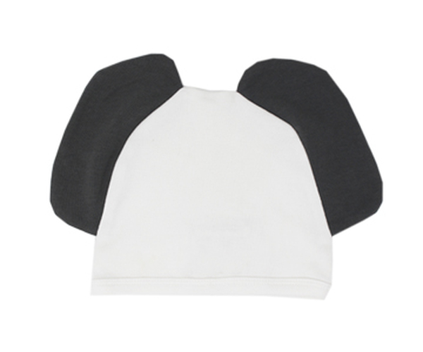 Organic Animal Cap in White Elephant, Flat