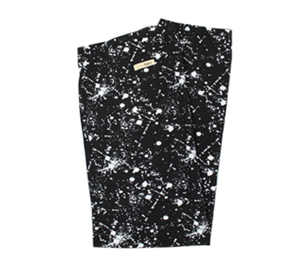 Organic Swaddling Blanket in Black Splatter, Flat