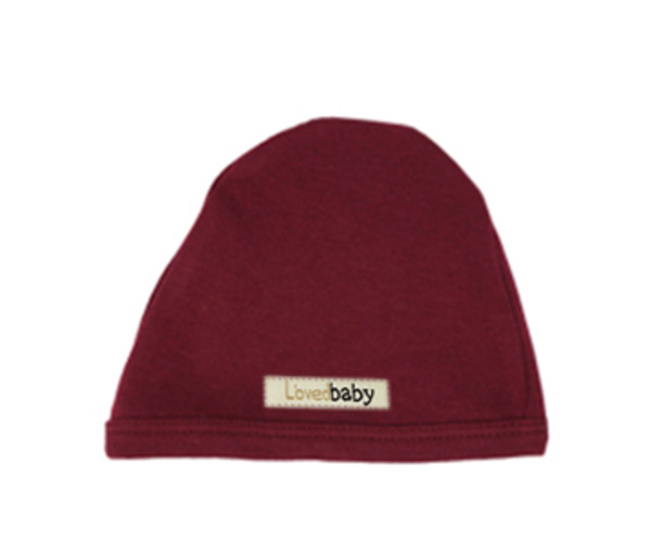 Organic Cute Cap in Cranberry, Flat