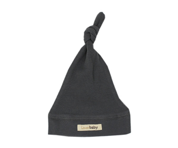 Organic Thermal Knotted Cap in Graphite, Flat