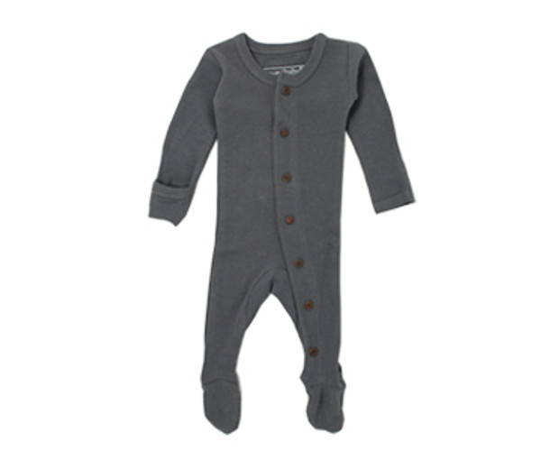 Organic Thermal Footed Overall in Graphite, Flat